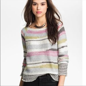 Free People Montmarte Striped Wool Sweater Small